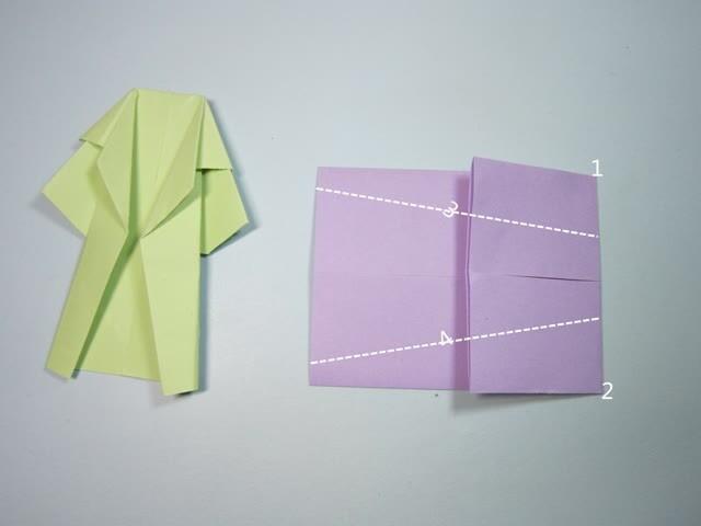 儿童手工折纸教程:简单的风衣折纸步骤图解
