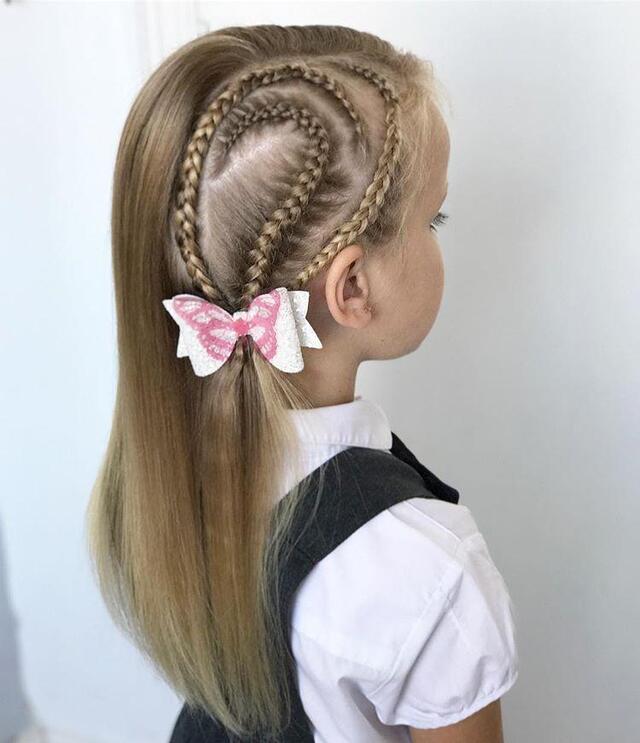 十款女童编发发型,会编发的妈妈最漂亮