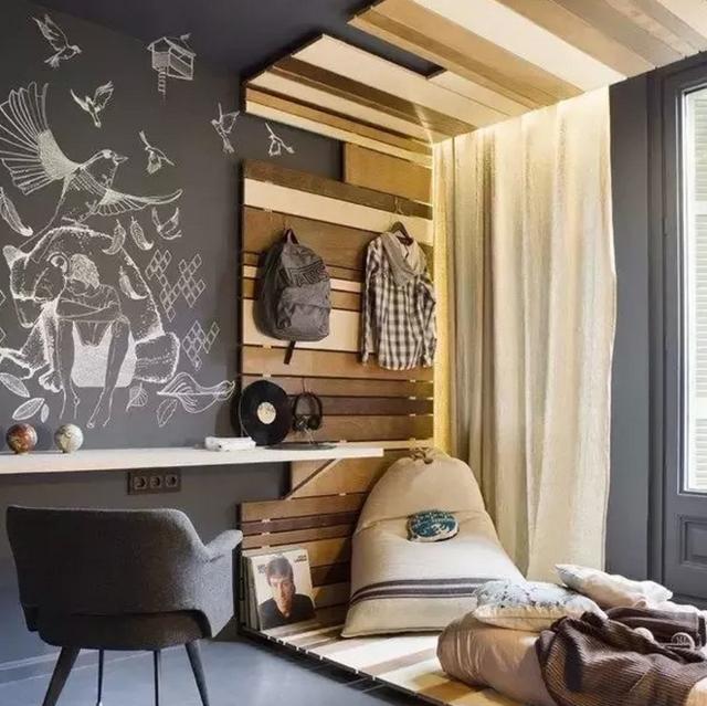 艺术感很强的木板设计