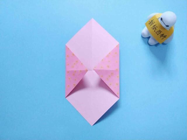 非常漂亮的手提袋折纸,简单几步就做好,手工diy折纸图片