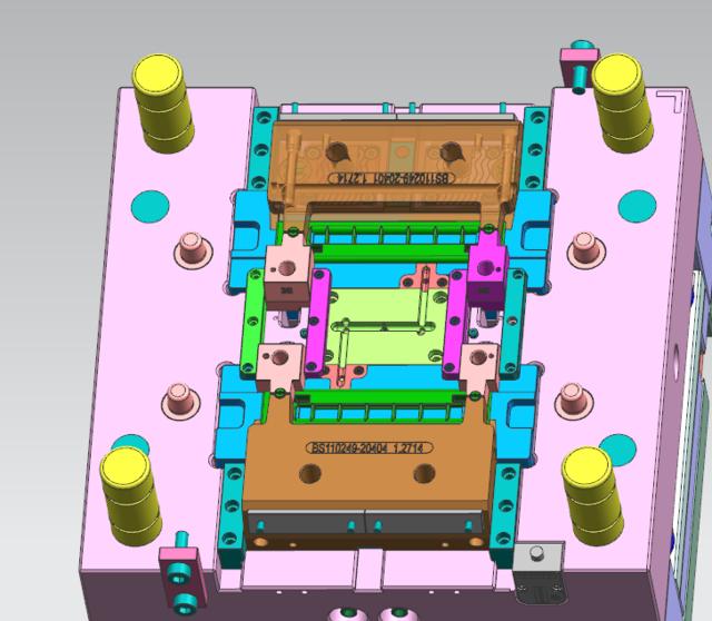 汽车内部产品ug注塑模具设计全3d模图