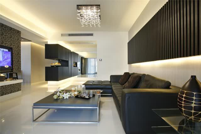 135平米三居室现代风格高档装修设计图