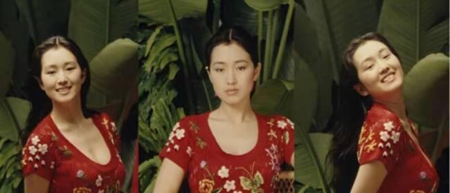 巩俐29年前写真曝光,一袭中国风红裙尽显明媚风情