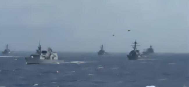 美澳大军演中国军舰现身 专家:这和美国监视中国一样