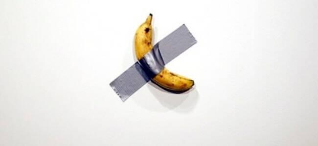 15万美元的艺术品香蕉当场被吃 艺术家:味道不错