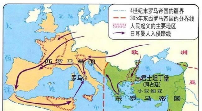 罗马帝国 罗马帝国(公元前27年--公元1453年),是以地中海为中心,跨越图片