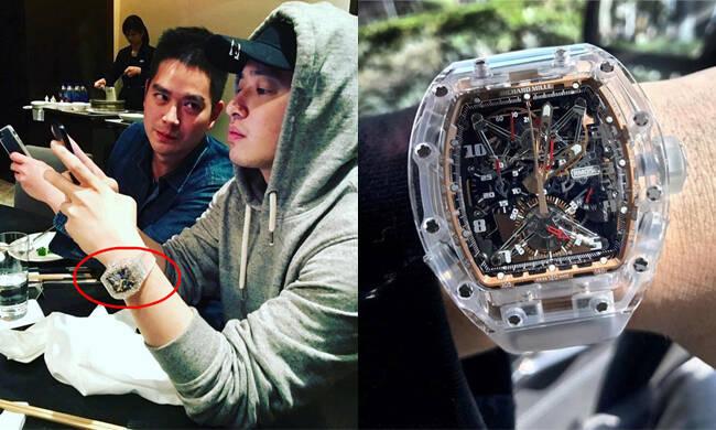 原来潘玮柏竟是爱表狂人 一块腕表可买3辆法拉利!