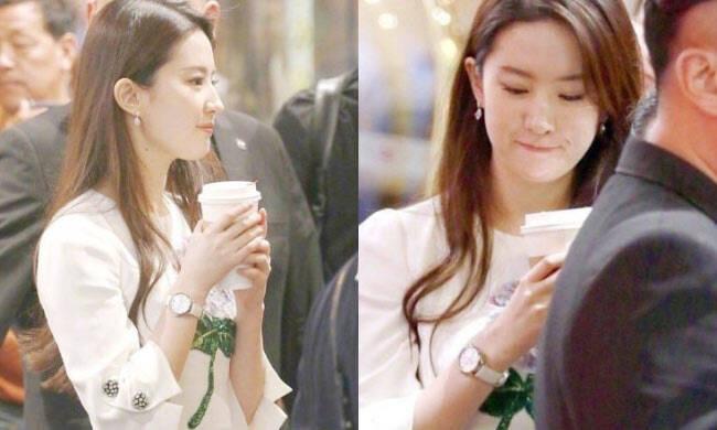 刘亦菲喝咖啡上热搜 天仙肌太抢镜