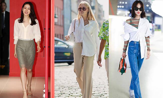 白衬衫,简单中创造千变万化!