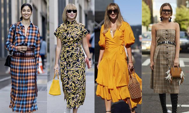 纽约时装周的潮人最爱连身裙