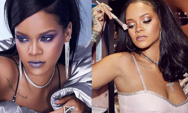 全球美妆博主蕾哈娜的假日妆容