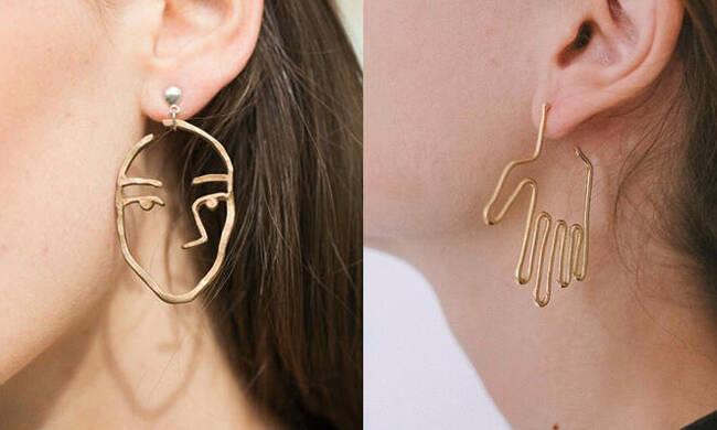 """厌倦了珠宝饰品 为什么不试试个性的""""人体""""耳环呢?"""