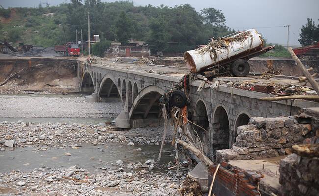 洪水横扫河北井陉