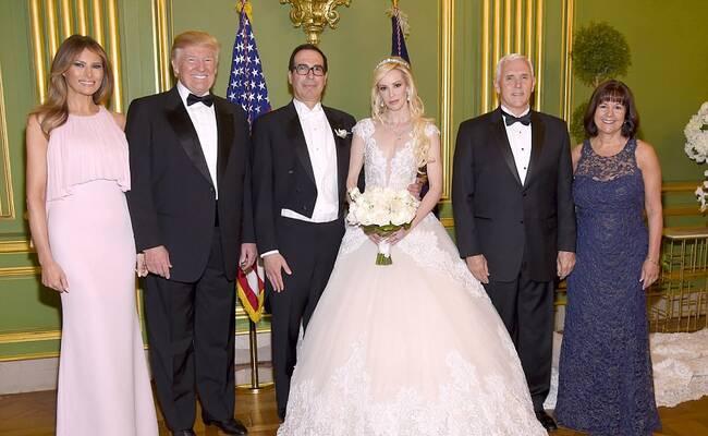 美国财政部长第3次结婚 特朗普参加婚礼