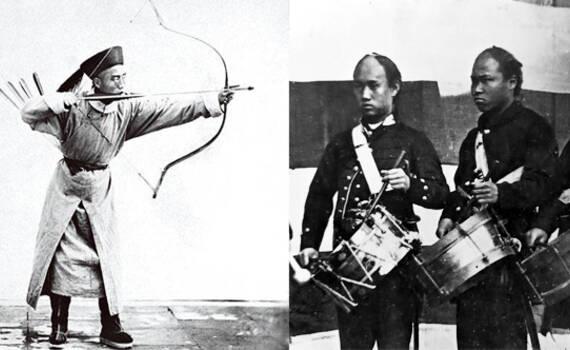 150年前中日士兵罕见照片:中国为何失败全写在脸上