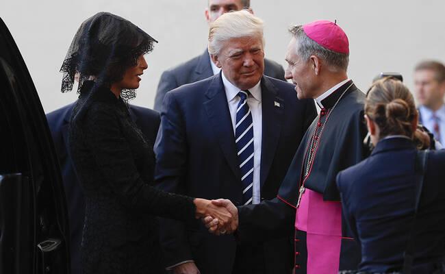 特朗普抵达梵蒂冈