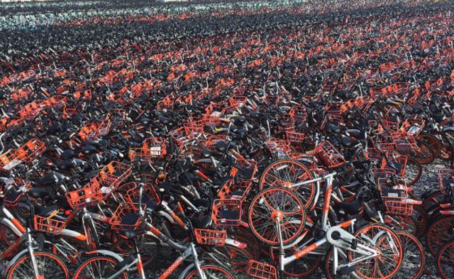 上海又扣了上万辆共享单车|组图