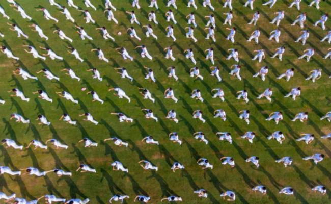 海南三亚:千人舞太极