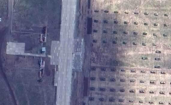 美卫星拍摄东方2018演习场 看上去很震撼