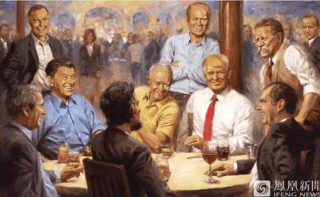 特朗普在办公室挂上了这幅画