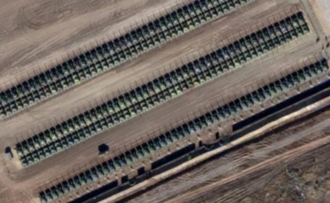 俄罗斯在俄乌边境部署大量坦克