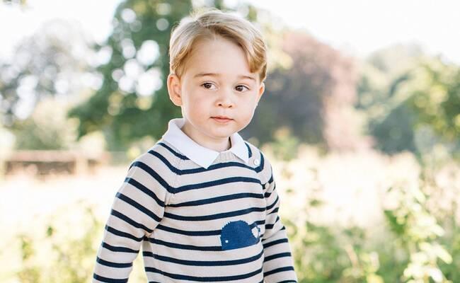 英国乔治小王子3岁生日照