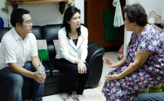 英拉探望曼谷医院爆炸的伤者