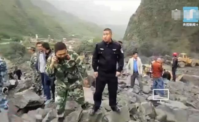 四川茂县叠溪镇发生山体垮塌 100余人被埋