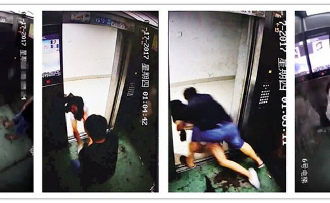 女子电梯内遭邻居猥亵 逃出门又被拽回