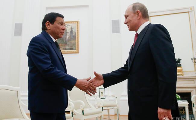 杜特尔特深夜12点拜会普京 会晤完连夜回国