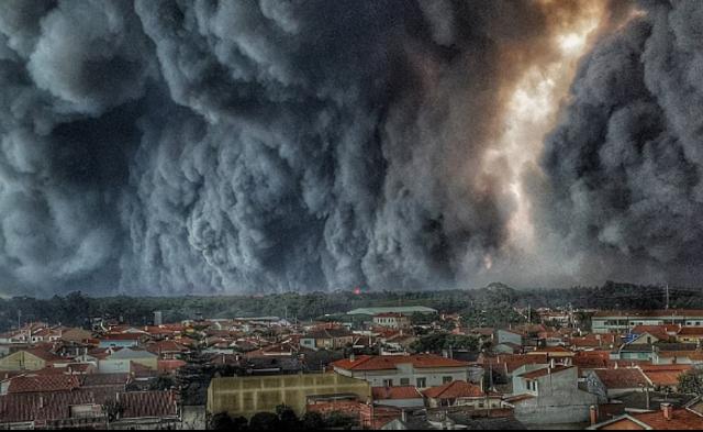葡萄牙森林大火 现场宛如世界末日|组图