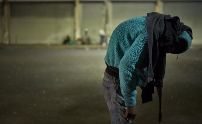 洛杉矶街头的无家可归者