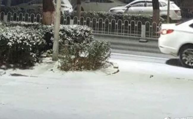 北京迎2018年初雪