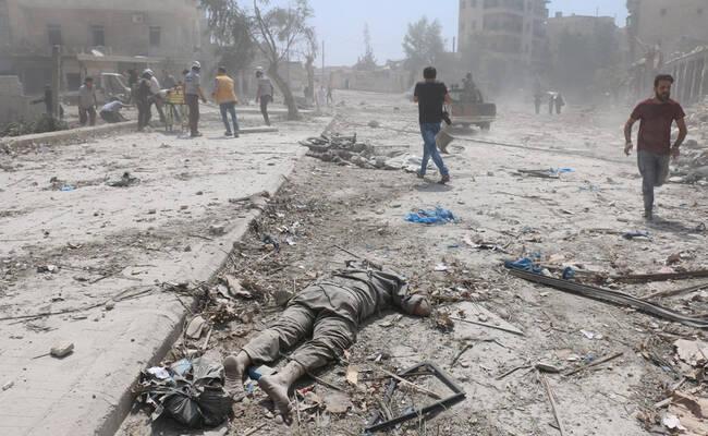 叙利亚阿勒颇遭桶炸弹袭击至少15死