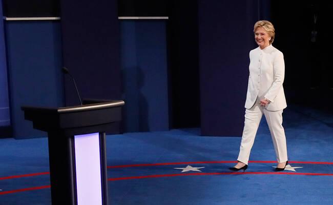 美国大选最后一次电视辩论现场