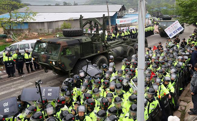 韩国开始全面部署萨德 已将设备运至预定地点