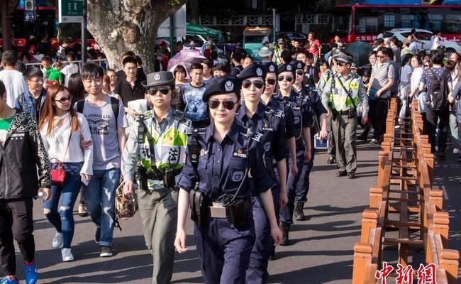 杭州西湖美女巡逻队帅气吸睛