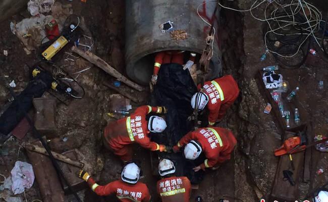海南一工地发生塌方事故 两名工人身亡
