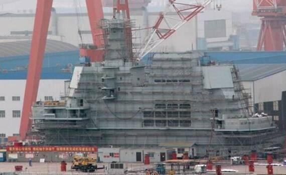 001A最新进度曝光:舰岛密布脚手架开始精装修