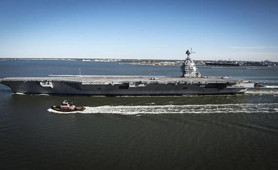 美军福特号航母服役 川普:让盟友安心 敌人发抖