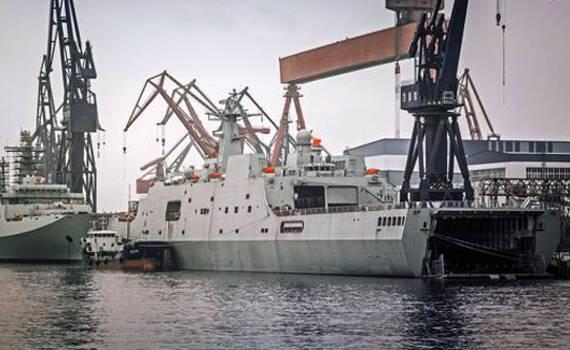 第5艘071坞登疑似已加注燃油 或将出海试航