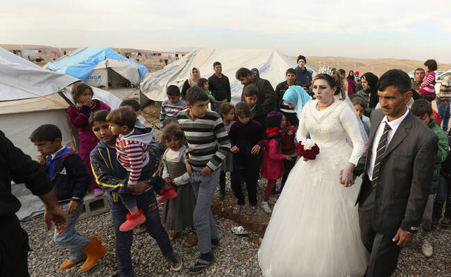 一场难民营里的婚礼