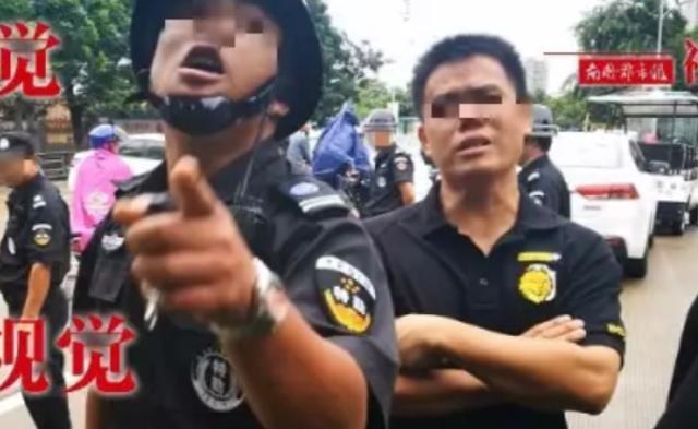 学校盖违章建筑,保安骂记者赶城管怼警察 组图