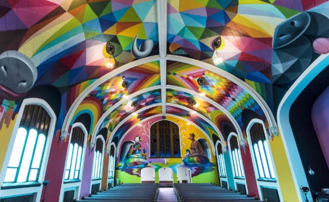 美国首座大麻教堂内部画面 组图