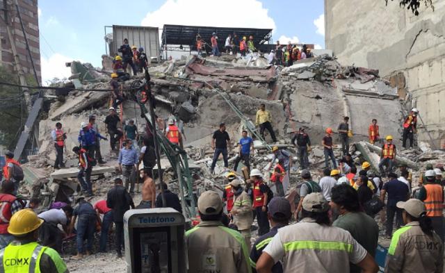 墨西哥中部发生7.1级地震|现场图