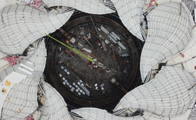 航拍杭州亚运会建设工地丨现场图