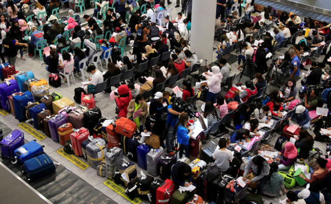 杜特尔特出机票召上万海外劳工返国