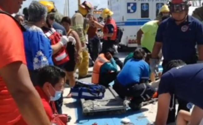 墨西哥游轮爆炸 25人受伤送院