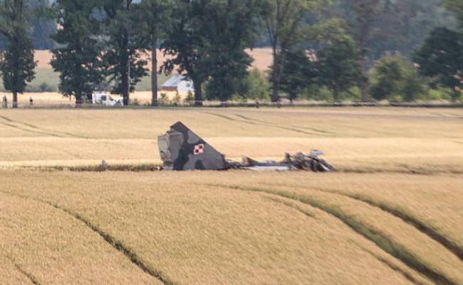 波兰一架米格-29军机坠毁 飞行员丧生