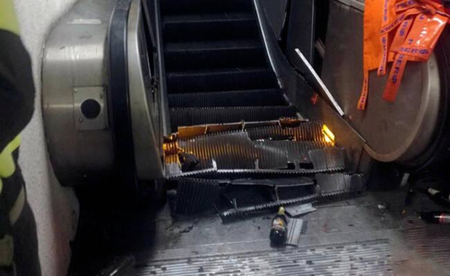 意大利地铁电梯故障 至少20人受伤